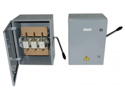 Ящик силовой с автомат. выкл и силовой розеткой ЯВША-3-100АIP54(штепс.разъем125Апятиштырьковый)