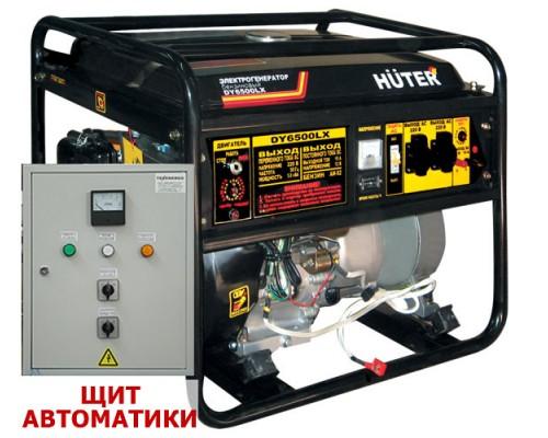 Электрогенератор DY6500LX с колёсами и аккумулятором плюс Щит Автоматики