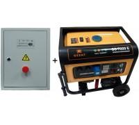 Генератор Gesht GG7000E, 7.5 кВт, 230 В плюс Щит Автоматики